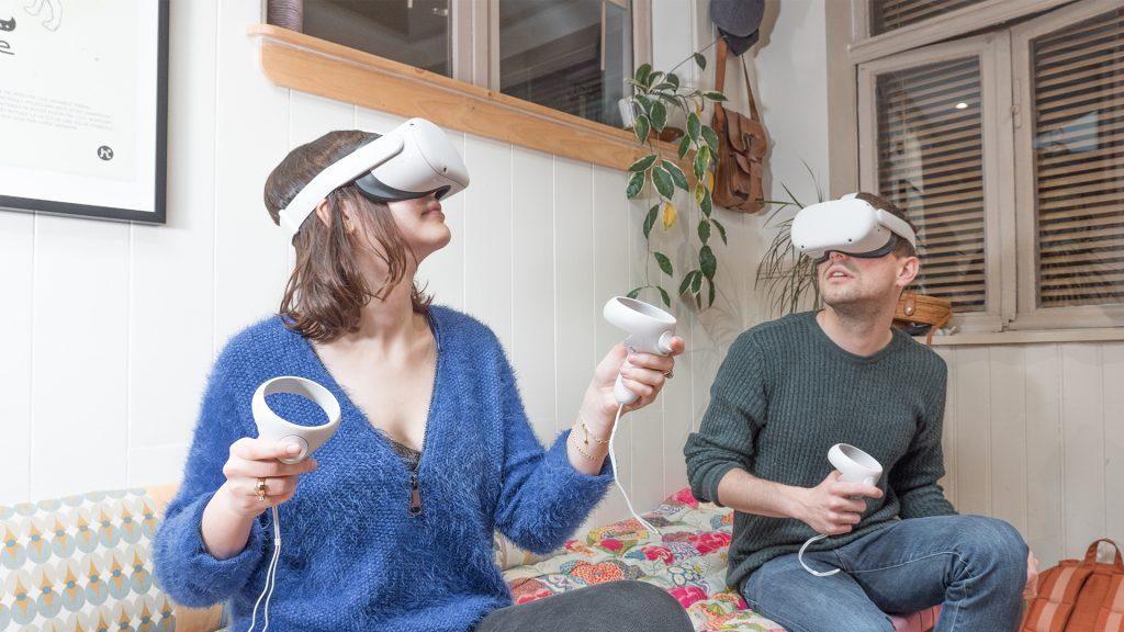 VR à domicile - retrait de </br> casques en click and collect